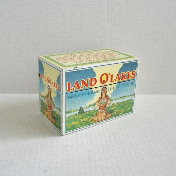 Vintage Land O Lakes Butter Recipe Tin Box