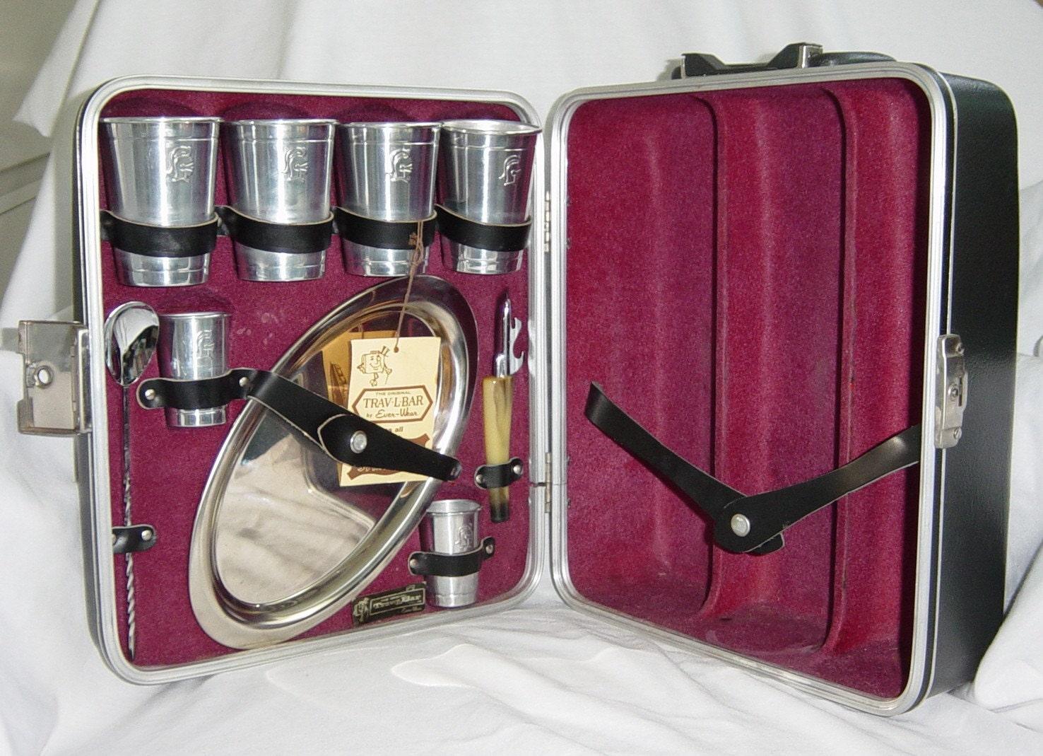 vintage travel mini bar set portable pub set