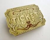 Holiday Custom Golden Ticket Scratch Off Card