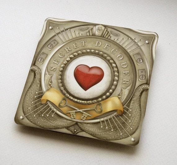 Secret Decoder Valentine Card with custom message