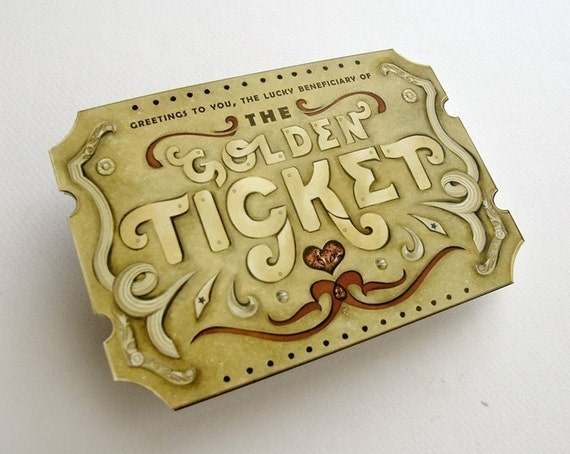 Custom Golden Ticket Scratch Off Card