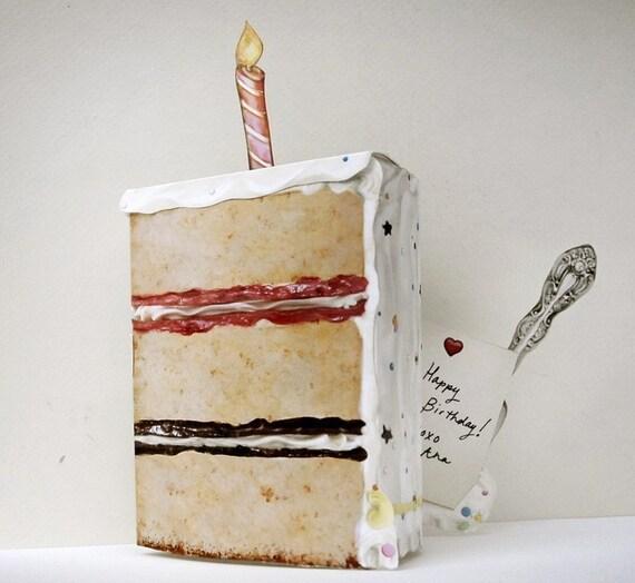 Birthday Let Them Eat Cake Pop Up Card