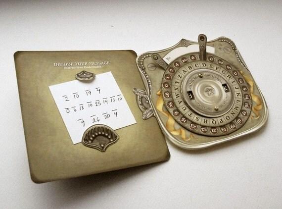 Secret Personalized Message Decoder Pop Up Card