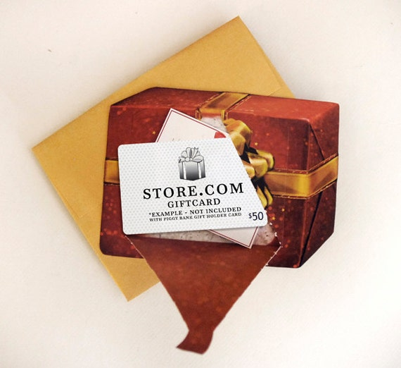 Present Holiday Gift Card Holder