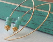 Big Summer Sale. Use Discount Code Summer25 to save 25 percent. Stacked Amazonite in 14k goldfill.