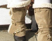 ARCTIC EXPEDITION: Faux Shearling Spats
