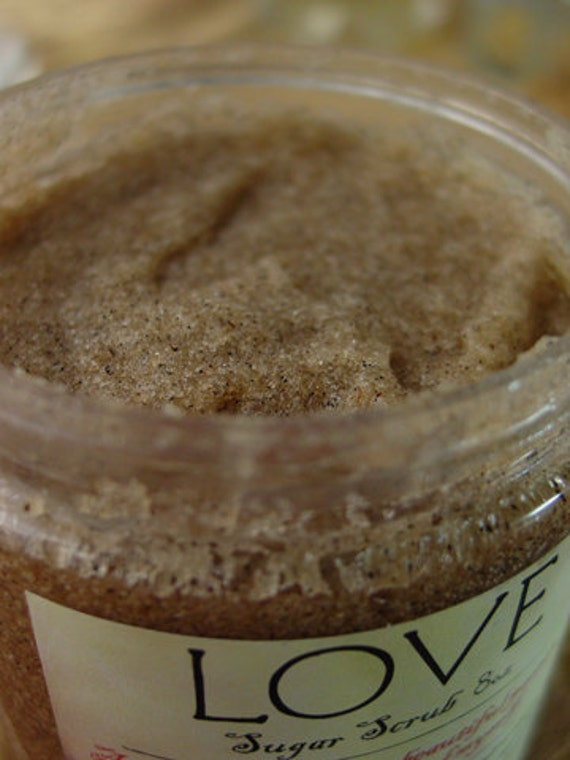Vanilla rose jasmine body sugar scrub with natural oils and vanilla beans spa body treatment