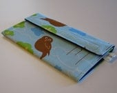 Scowling Owls Long Wallet with Divider