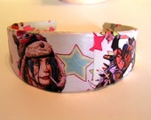 2 inch wide Deco Headband Tank Girl Punk Star Kick Ass Girl Power Ready to Ship