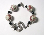 Dragon Bracelet Chinese Writing on Beads