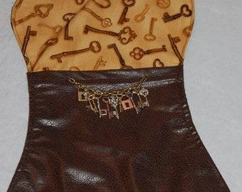 Steampunk keys dog bone shaped holiday treat bag stocking for dogs