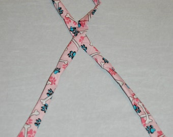 Keep cool neck wrap bandanna scarf for dogs, pink with paw prints and dog bone themed