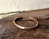 14K Yellow Gold Fill Toe Ring- Half Round -1.5mm