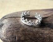 Sterling Silver Toe Ring- Princess Crown