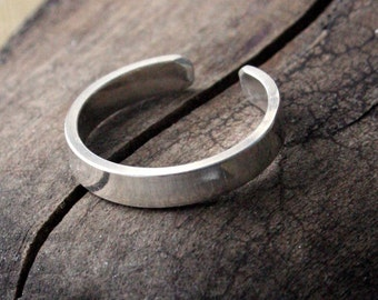 Sterling Silver Toe Ring- Polished Flat-3mm