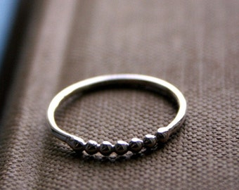 Sterling Silver Stacking Ring- Bead Dot