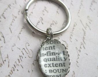 Personalized keychain, Word Keyring, Custom keychain, Dictionary Word Key chain, Teacher Gift, Wedding Favor, Coworker Gift, Word Key Ring,