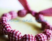 Lets Have a Picnic - Fabric Bead Bracelet - Small\/Medium - As seen in May 2009 Issue of Country Living Magazine