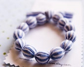 Knox Overstreet is the Cutest - Fabric Bead Bracelet - Small\/Medium