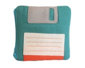Floppy Disk Pouch - Teal