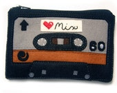 Cassette Tape Zippered Wallet - Deluxe Love Mix