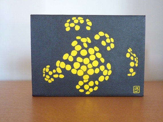 Yellow and Black Painting - Growing No. 1 - Original Acrylic Painting