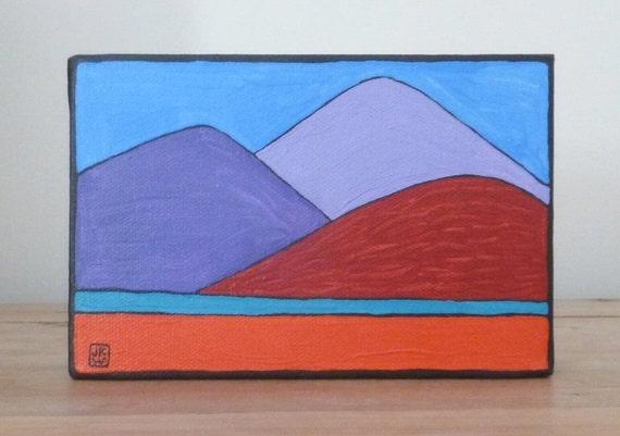 Three Mountains - Folk Art Painting