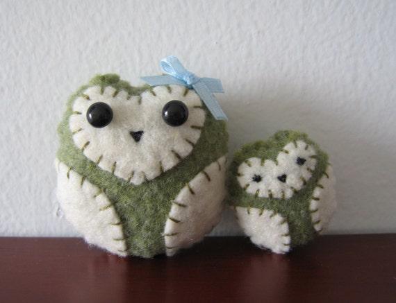 Little Felt Owl and Mini Me