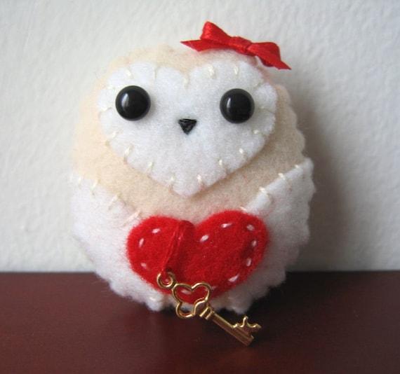 Key to My Heart Valentine Owl