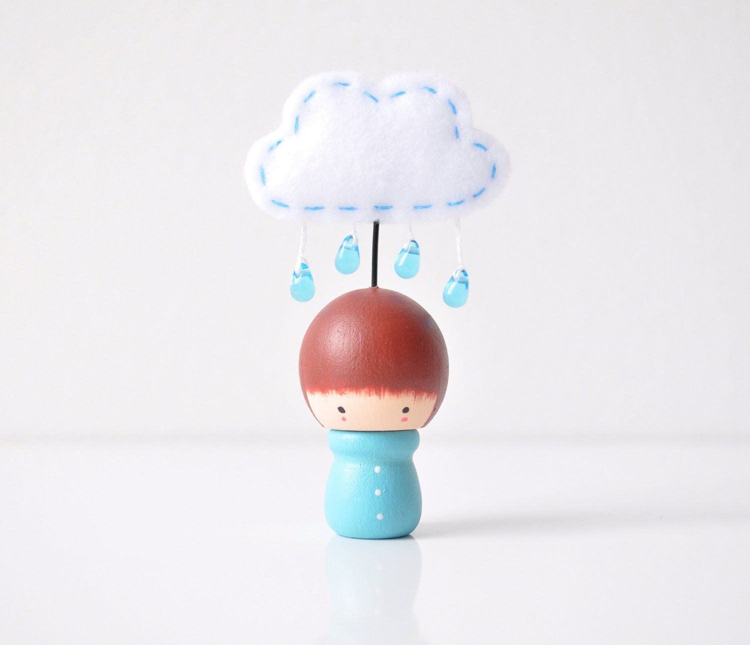 Cute Rainy Day Cloud Figurine by The Cupcake Girls