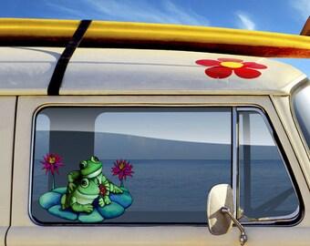 Frog Lovers Gift Couple Vinyl Decal Art Sticker