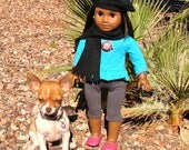 American Girl Doll Black Fleece Beret Hat  adult and child hat sets
