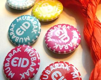 5 Eid Mubarak Buttons