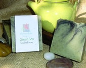 Handmade Green Tea Natural Shea Butter Soap