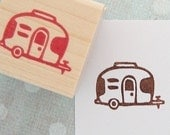 Airstream Trailer Rubber Stamp