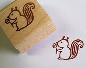 Loving squirrel - Rubber Stamp