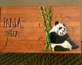 Decorative Painting Pattern Packet  Panda FOR  Bamboo Tea Box Organizer