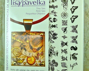 Lisa Pavelka Tiny Tats Decal  Waterslide Tattoo Transfers Nature    2010