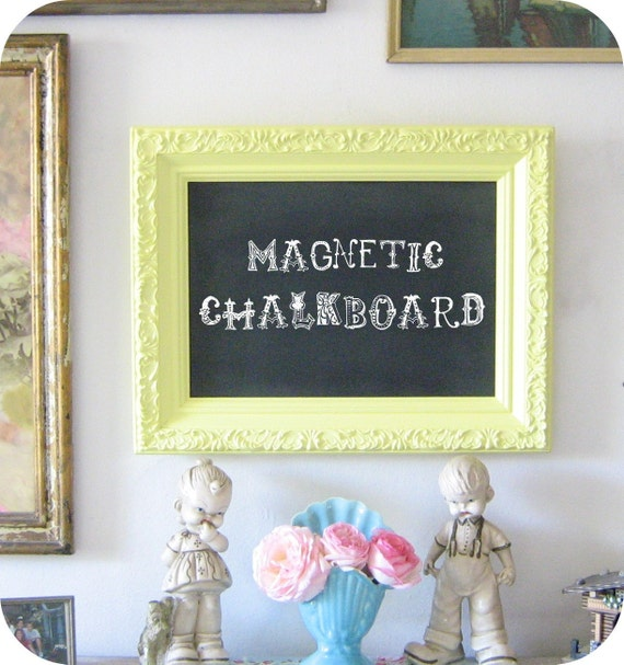 Sunny and Bright Magnetic Chalkboard Memo Board