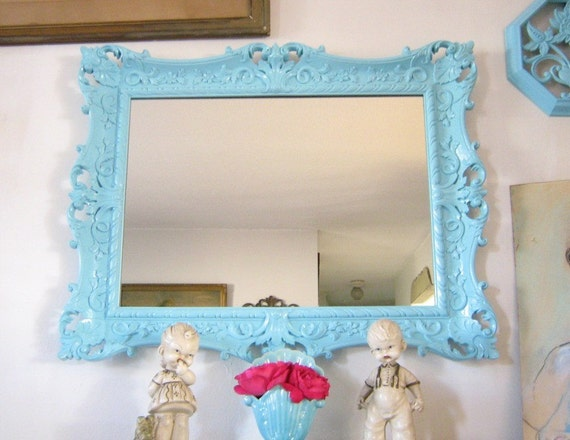 Vintage Ornate Baroque Mirror OR Magnetic Chalkboard Upcycle YOU Choose 22 X 28