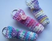 Set of 3 Lip Balm Holder Keyrings - Girly Girl Collection