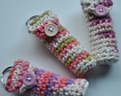 Set of 3 Lip Balm Holders with Keyring - Victorian Florals - Limited Edition Colors