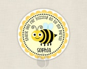 BEE our guest gift tags - Personalized 2in party circles - DIY printable digital file