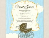 Vintage stroller - Baby Shower - You-Print Digital Invitation