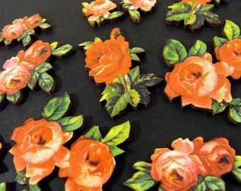 Wooden Red Roses