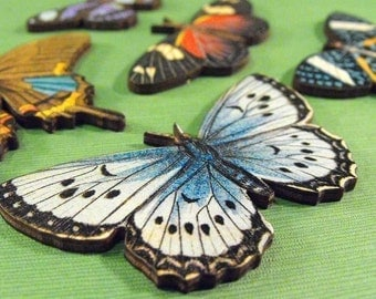 Large Butterflies - Collection of 7 Wood Butterflies