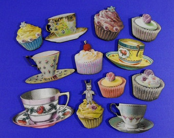 Cupcakes and Tea Cups