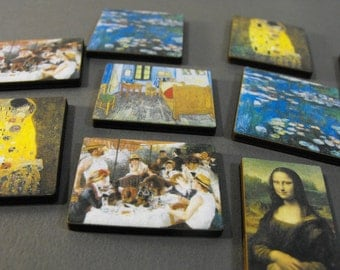 Mini Wooden Famous Paintings