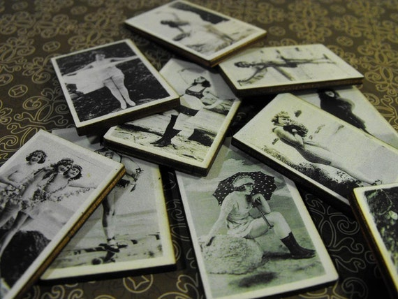 1920's Bathing Flapper Girls - Vintage Pin Up Beauties at the Beach
