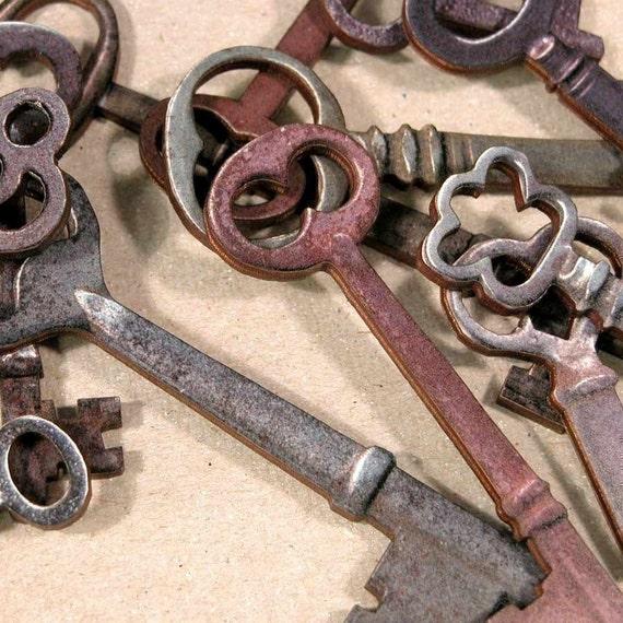 Wooden Skeleton Keys